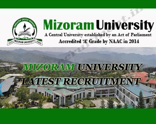 Mizoram University Recruitment 2020