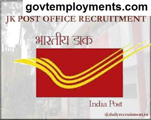 JK Post Office Recruitment 2020, Apply Online for 442 Gramin Dak Sevaks Vacancies @ appost.in